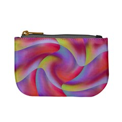 Colored Swirls Coin Change Purse