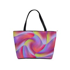 Colored Swirls Large Shoulder Bag