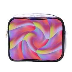 Colored Swirls Mini Travel Toiletry Bag (One Side)
