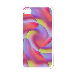 Colored Swirls Apple Iphone 4 Case (white)