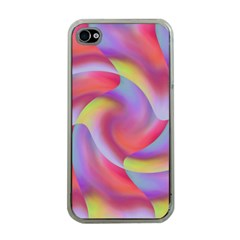 Colored Swirls Apple Iphone 4 Case (clear)