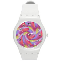 Colored Swirls Plastic Sport Watch (Medium)