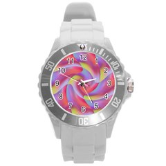 Colored Swirls Plastic Sport Watch (Large)