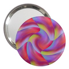Colored Swirls 3  Handbag Mirror
