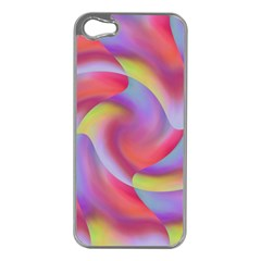 Colored Swirls Apple iPhone 5 Case (Silver)