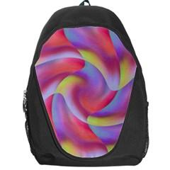 Colored Swirls Backpack Bag