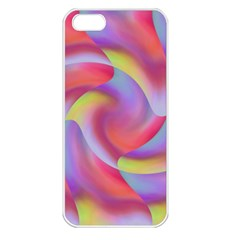 Colored Swirls Apple iPhone 5 Seamless Case (White)