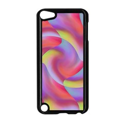 Colored Swirls Apple Ipod Touch 5 Case (black)