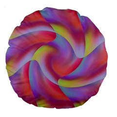 Colored Swirls 18  Premium Round Cushion