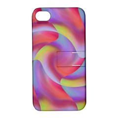 Colored Swirls Apple iPhone 4/4S Hardshell Case with Stand