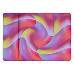Colored Swirls Samsung Galaxy Tab 10.1  P7500 Flip Case