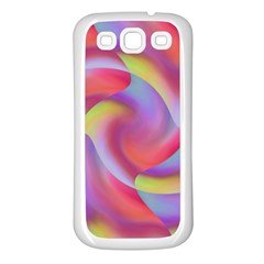 Colored Swirls Samsung Galaxy S3 Back Case (white)