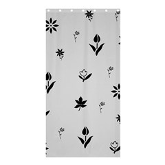 Natural Design (b&w) Shower Curtain 36  X 72  (stall)