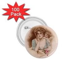 Vintage Valentine 1.75  Button (100 pack)