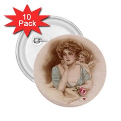 Vintage Valentine 2.25  Button (10 pack)