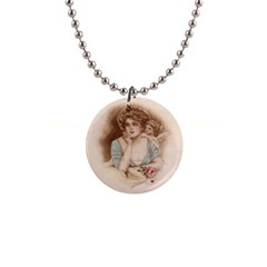 Vintage Valentine Button Necklace