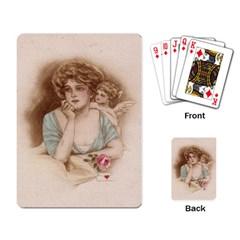 Vintage Valentine Playing Cards Single Design