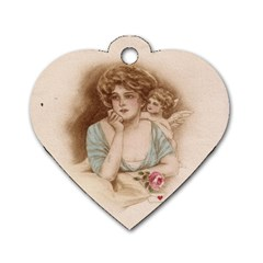 Vintage Valentine Dog Tag Heart (Two Sided)
