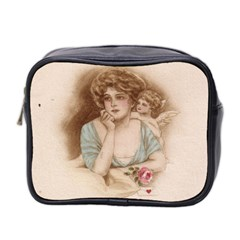 Vintage Valentine Mini Travel Toiletry Bag (Two Sides)