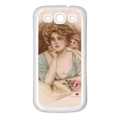 Vintage Valentine Samsung Galaxy S3 Back Case (White)
