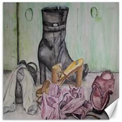 Footwear Canvas 16  X 16  (unframed)