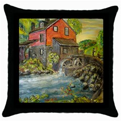 Daniels Mill   Ave Hurley   Black Throw Pillow Case