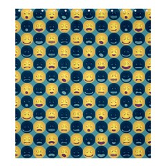 Smiley Crowd Shower Curtain 66  x 72  (Large)