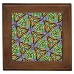 Elegant Retro Art Framed Ceramic Tile