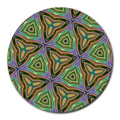 Elegant Retro Art 8  Mouse Pad (Round)