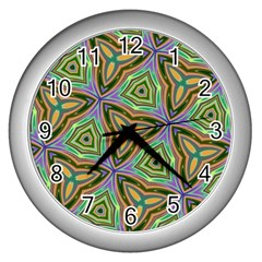 Elegant Retro Art Wall Clock (silver)