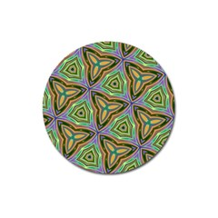 Elegant Retro Art Magnet 3  (Round)