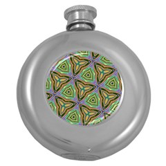 Elegant Retro Art Hip Flask (Round)