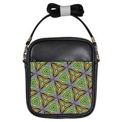 Elegant Retro Art Girl s Sling Bag