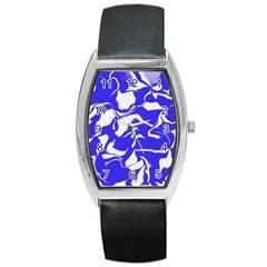 Swirl Tonneau Leather Watch