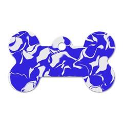 Swirl Dog Tag Bone (One Sided)
