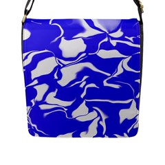 Swirl Flap Closure Messenger Bag (large)