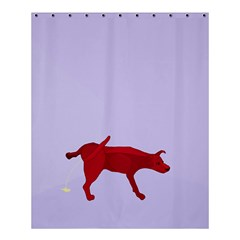 There is a dog.... Shower Curtain 60  x 72  (Medium)