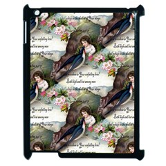 Vintage Valentine Postcard Apple iPad 2 Case (Black)
