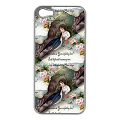 Vintage Valentine Postcard Apple iPhone 5 Case (Silver)