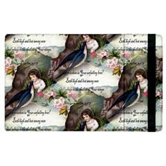 Vintage Valentine Postcard Apple iPad 3/4 Flip Case