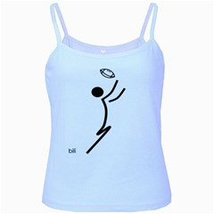Cowcow Football Black Baby Blue Spaghetti Tank