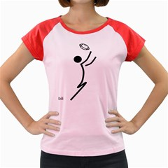Cowcow Football Black Women s Cap Sleeve T-Shirt (Colored)