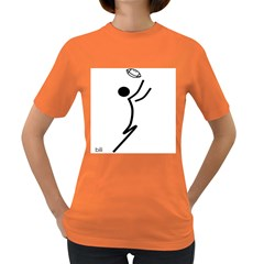 Cowcow Football Black Women s T Shirt (colored)