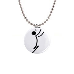Cowcow Football Black Button Necklace