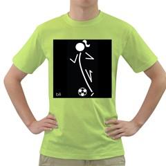 Cowcow Soccer Men s T-shirt (Green)