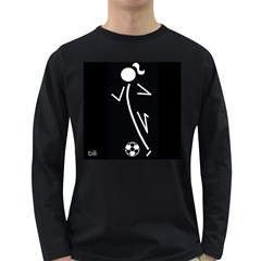 Cowcow Soccer Men s Long Sleeve T Shirt (dark Colored)