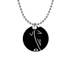 Cowcow Soccer Button Necklace