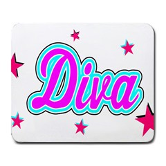 Pink Diva Large Mouse Pad (Rectangle)