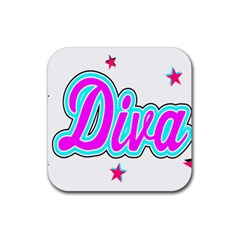 Pink Diva Drink Coasters 4 Pack (Square)
