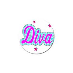 Pink Diva Golf Ball Marker 4 Pack